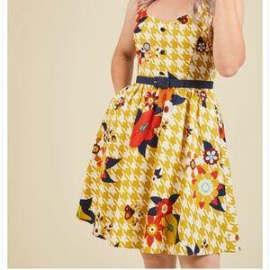 NWOT Modcloth Houndstooth Dress
